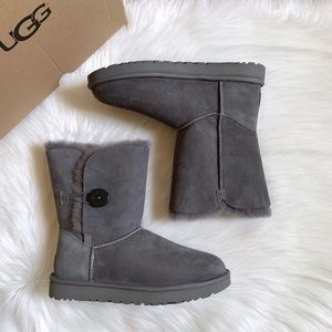 UGG Grey Bailey Button II Boots